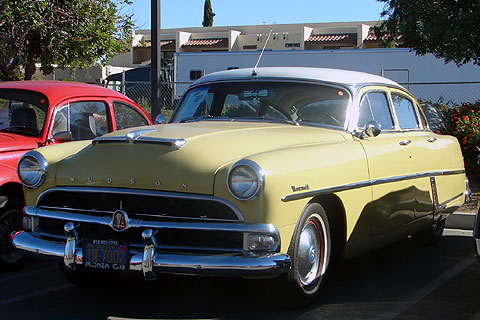 Narrow whitewalls on this 1950's Hudson.