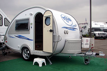 Exterior of the T@B Microlite Travel Trailer