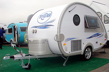 Exterior of the T@B Microlite Travel Trailers