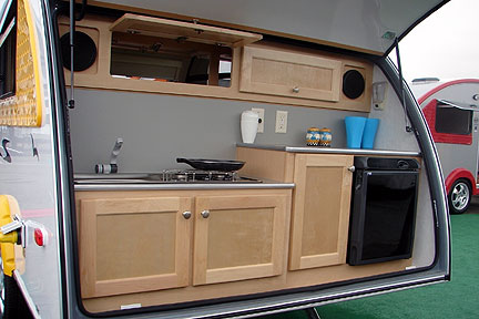 Optional kitchen for the T@B Microlite Travel Trailers