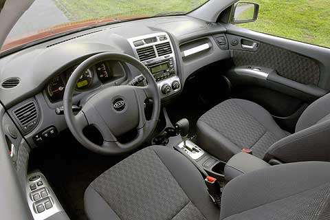 Interior dash and seats of the 2007 Kia Sportage Compact Sport Utility Vehicle
