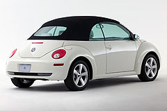 Exterior front, side view of the 2007 Volkswagen New Beetle Coupe and Convertible
