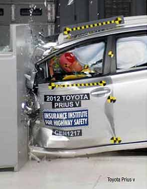 2013 PriusV IIHS Crash Test